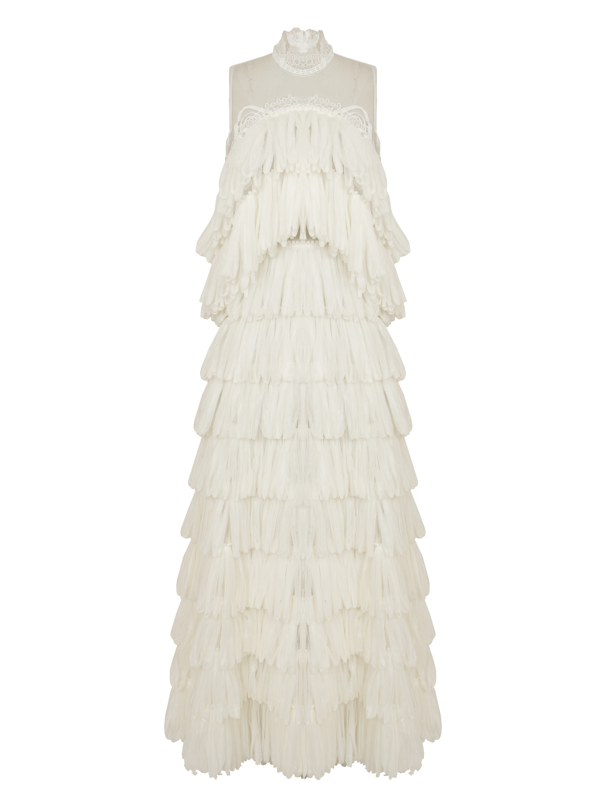 P1579-M, Layered Loop Tulle Gown, Ivory.jpg