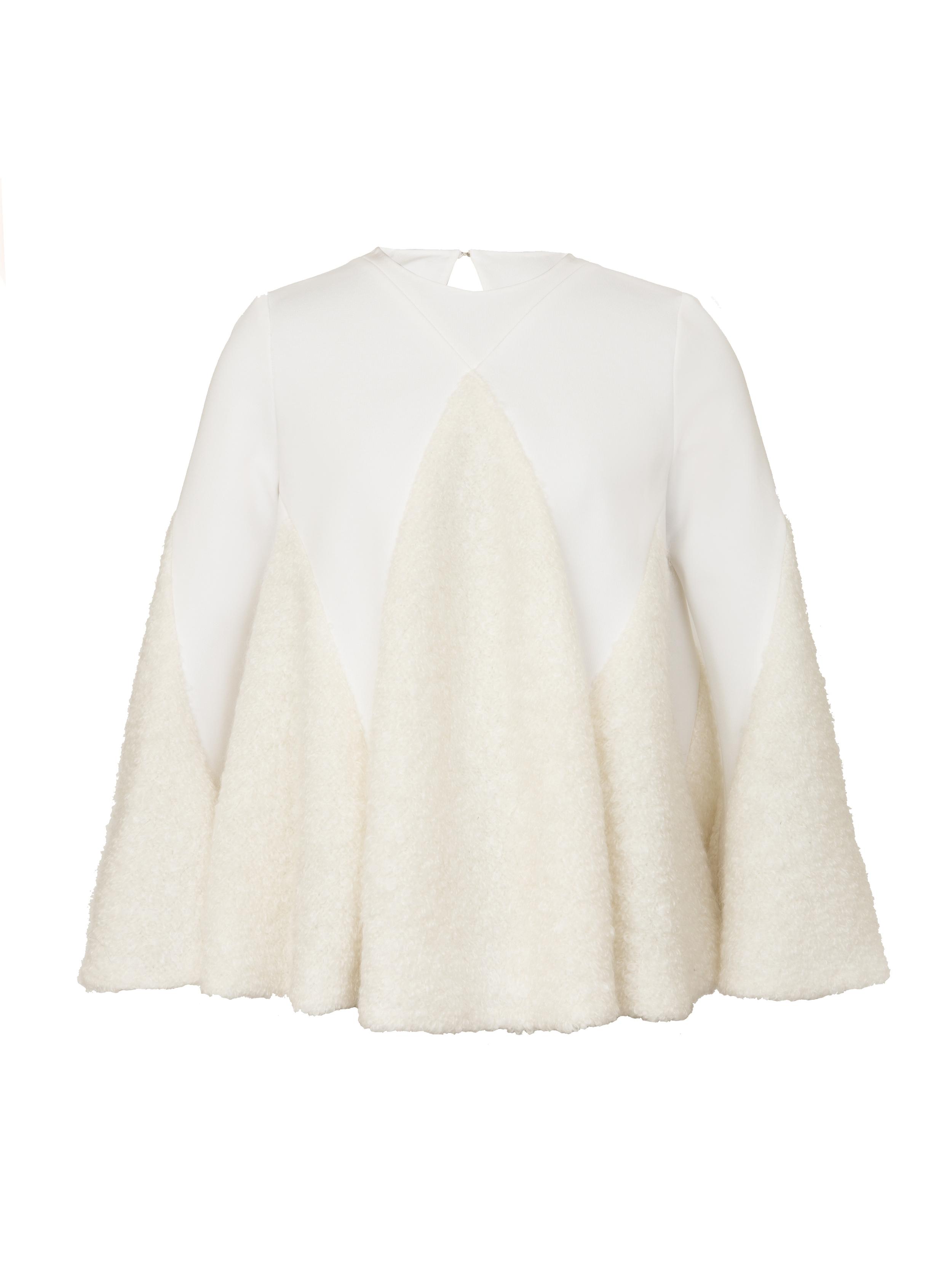 P2009-J, Wool Shag Flare L:S Top, Ivory.jpg