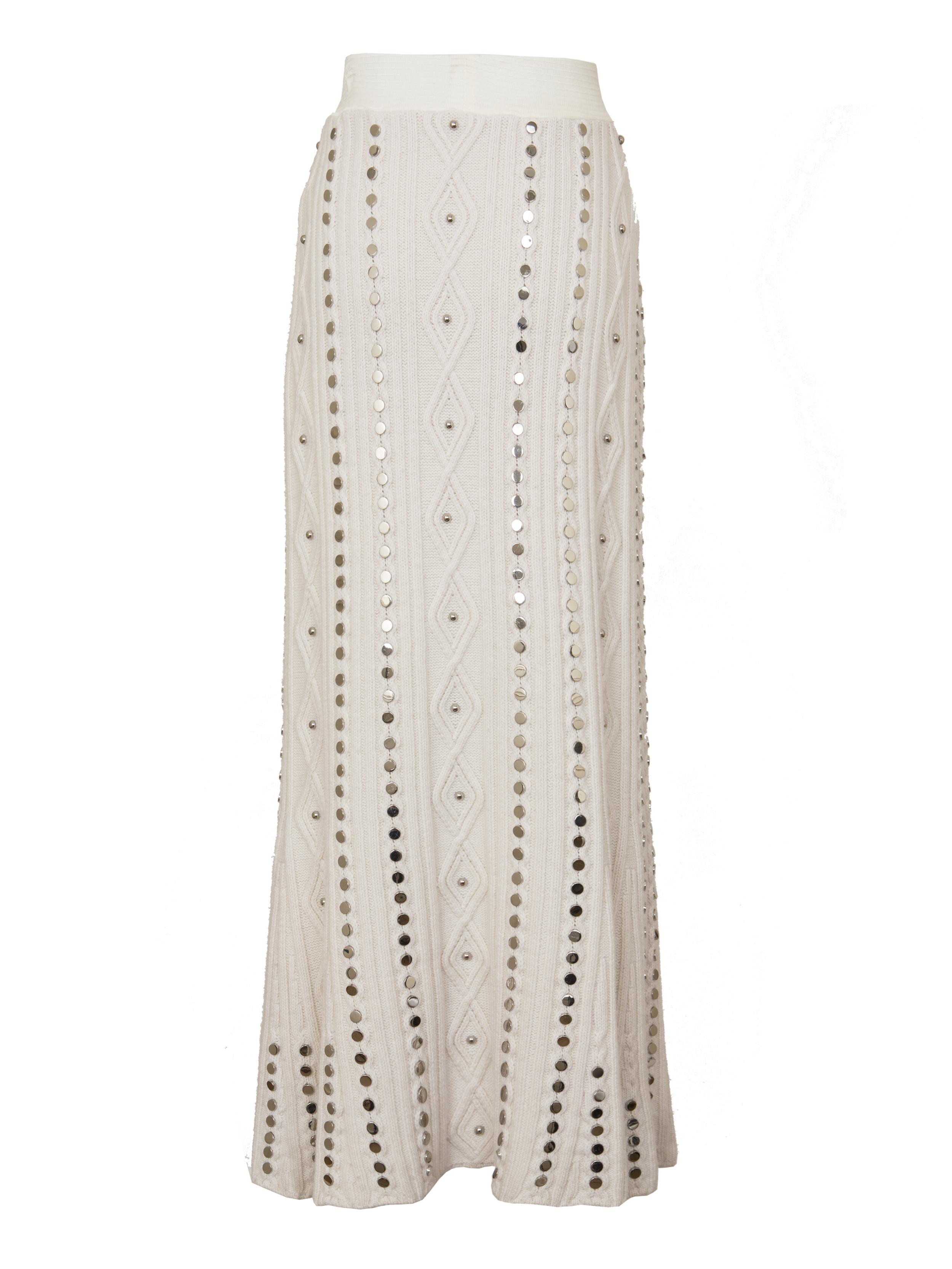 P3097-K, Beaded Rib Knit Skirt, Ivory.jpg