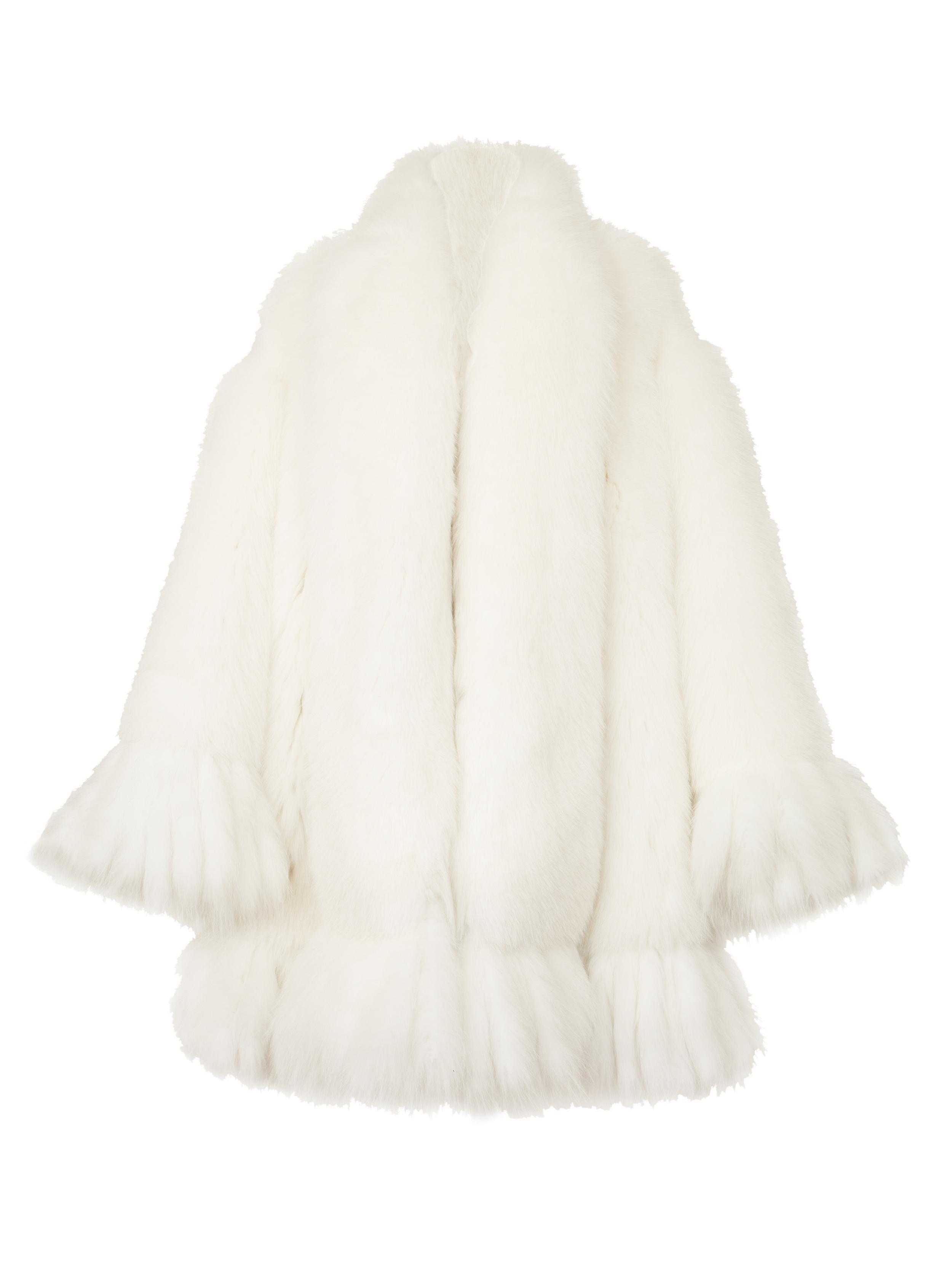 P6010-F, Fox Tail A-Line Coat, Ivory.jpg