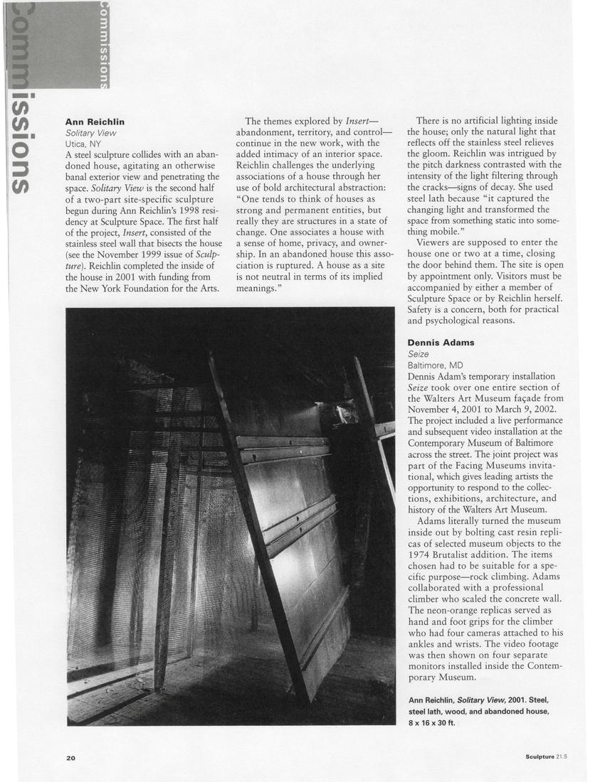 Sculpture Magazine June 2002
