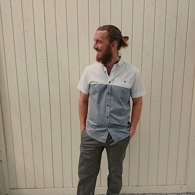 Our Tank Farm two toned button down will keep you cool this warm weekend!
