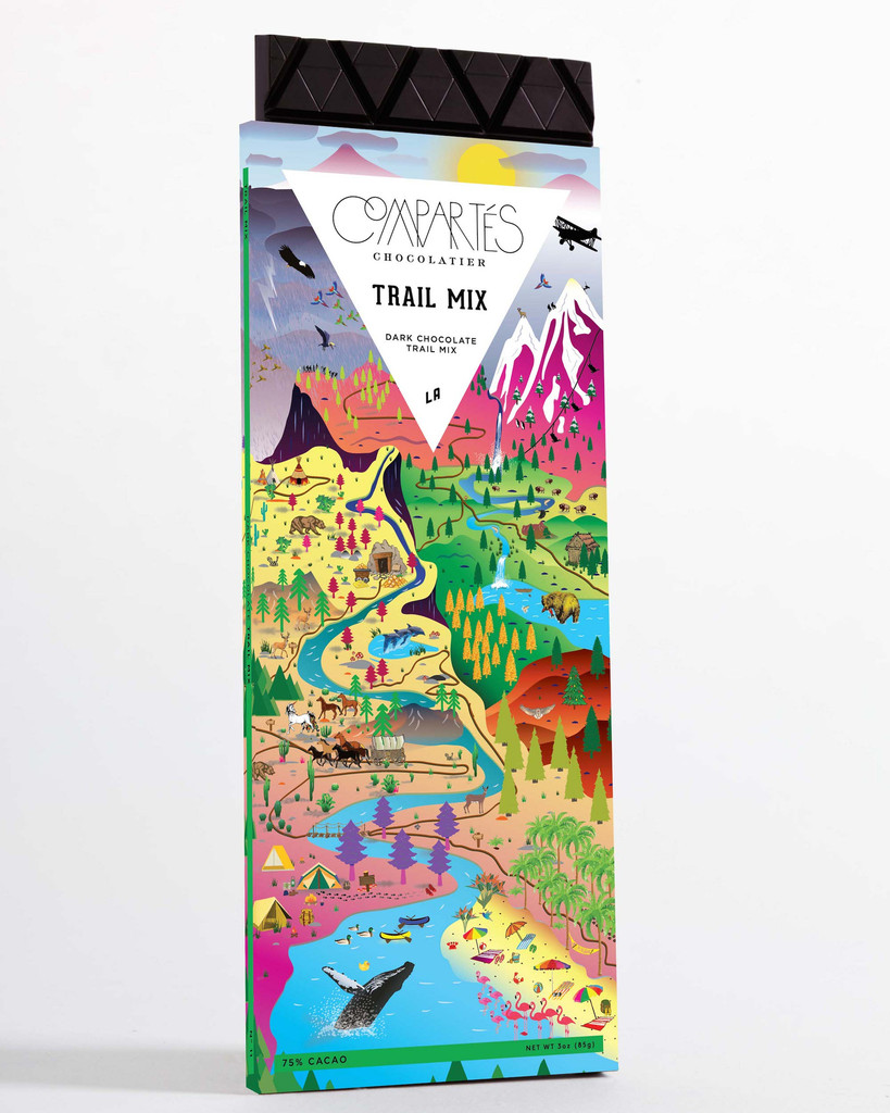 Our  trail mix chocolate bar  from Compartes is the perfect companion for a hike this weekend!