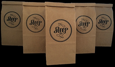 Steep Tea Co.  four flavors available in-store for $14.
