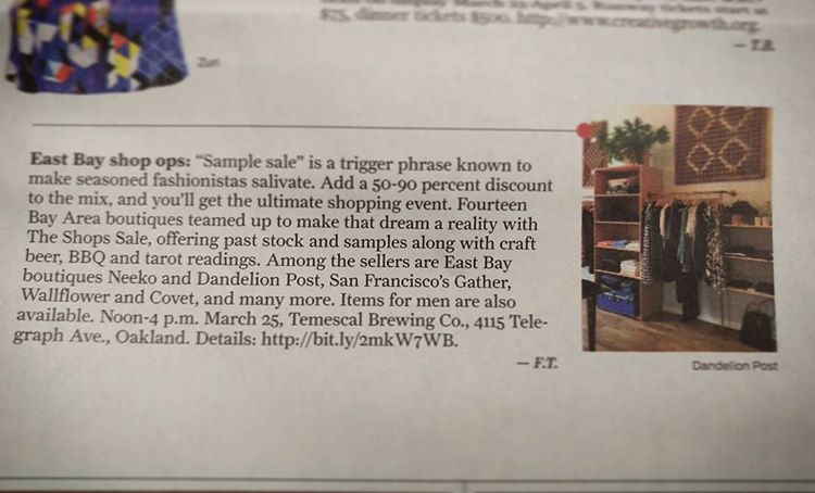 Our feature in the San Francisco Chronicle!