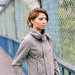 Women's softshell jacket.