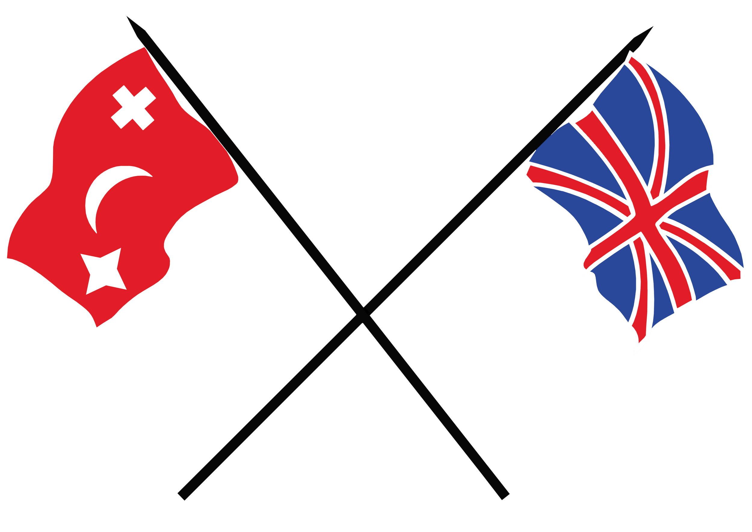 Gate Pa and British flags