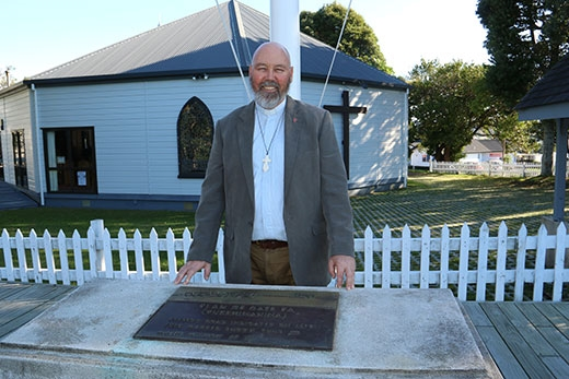 Reverend John Hebenton wants the public to attend St George's Anglican Church service this Friday, which will commemorate the Battle of Gate Pa. Photo: Tracy Hardy.