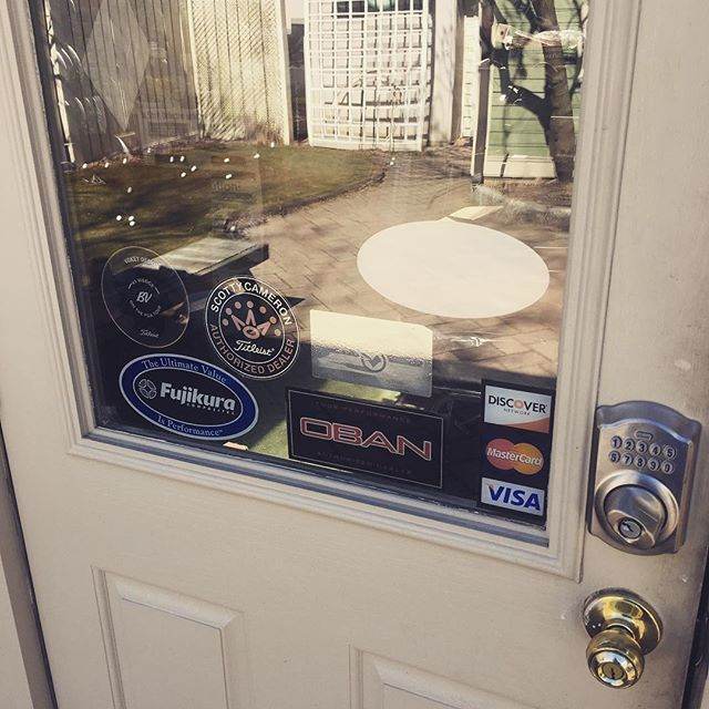 Golf shop door!