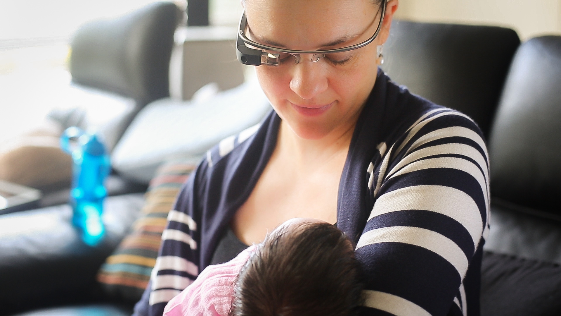 Small World Social   Breastfeeding Support Project Trial Participant   Cath Sharples with daughter Isabella.