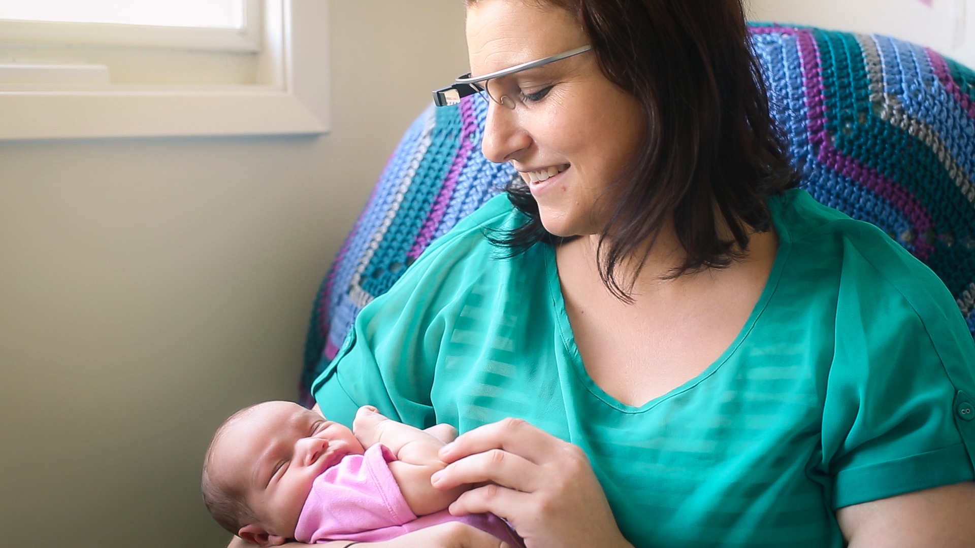 Small World Social   Breastfeeding Support Project Trial Participant   Laura Loricco with daughter Grace.