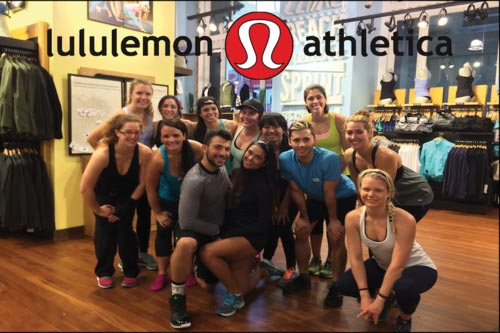 Pictured Above:   Lululemon Athletica (Grant St., SF)