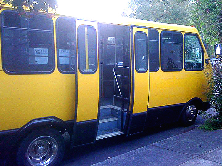 This was the bus we traveled in. It was tits.