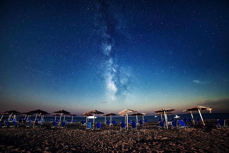 The Milky Way, shot at Coru's southern beach. © 2015 diffuse photo