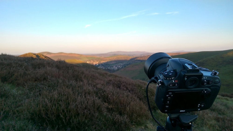 Setting up the camera on a sturdy tripod with remote trigger (cable) during daylight will ensure a quality night sky photograph. Once night falls this task becomes much more difficult.