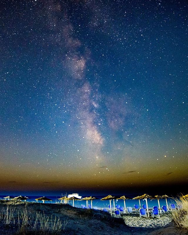 Milky Way over Corfu. © diffuse photo Find out how I shot this at diffusephoto.com/blog • • #milkyway #astrophotography #instaastro #nightsky #sunset #beach #corfu #starphotography #milkyways #milkywayphotography #milkywaychasers #igers #travel #tutorial #tb #instagood