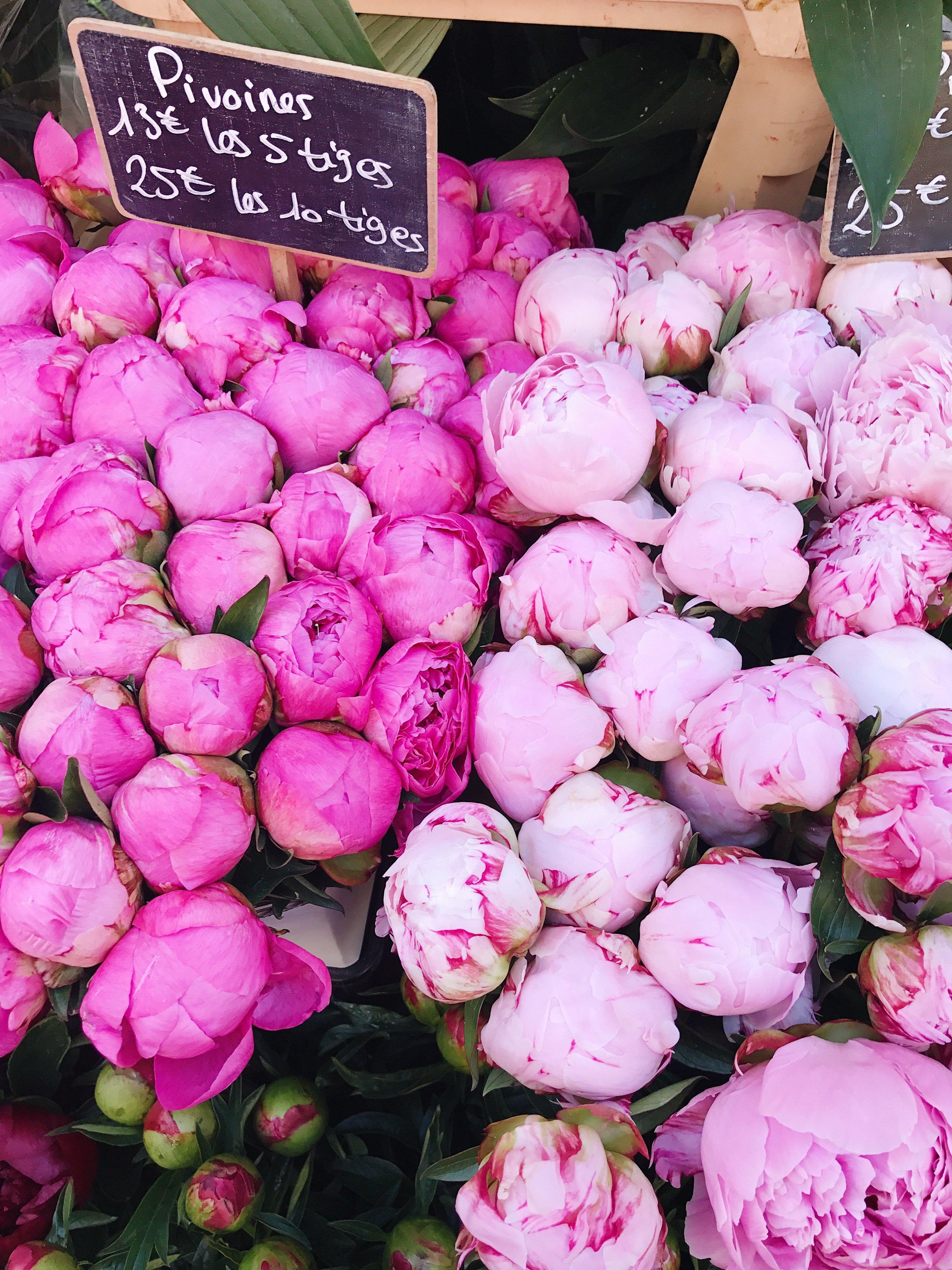 Beautiful Parisian farmer's market finds.