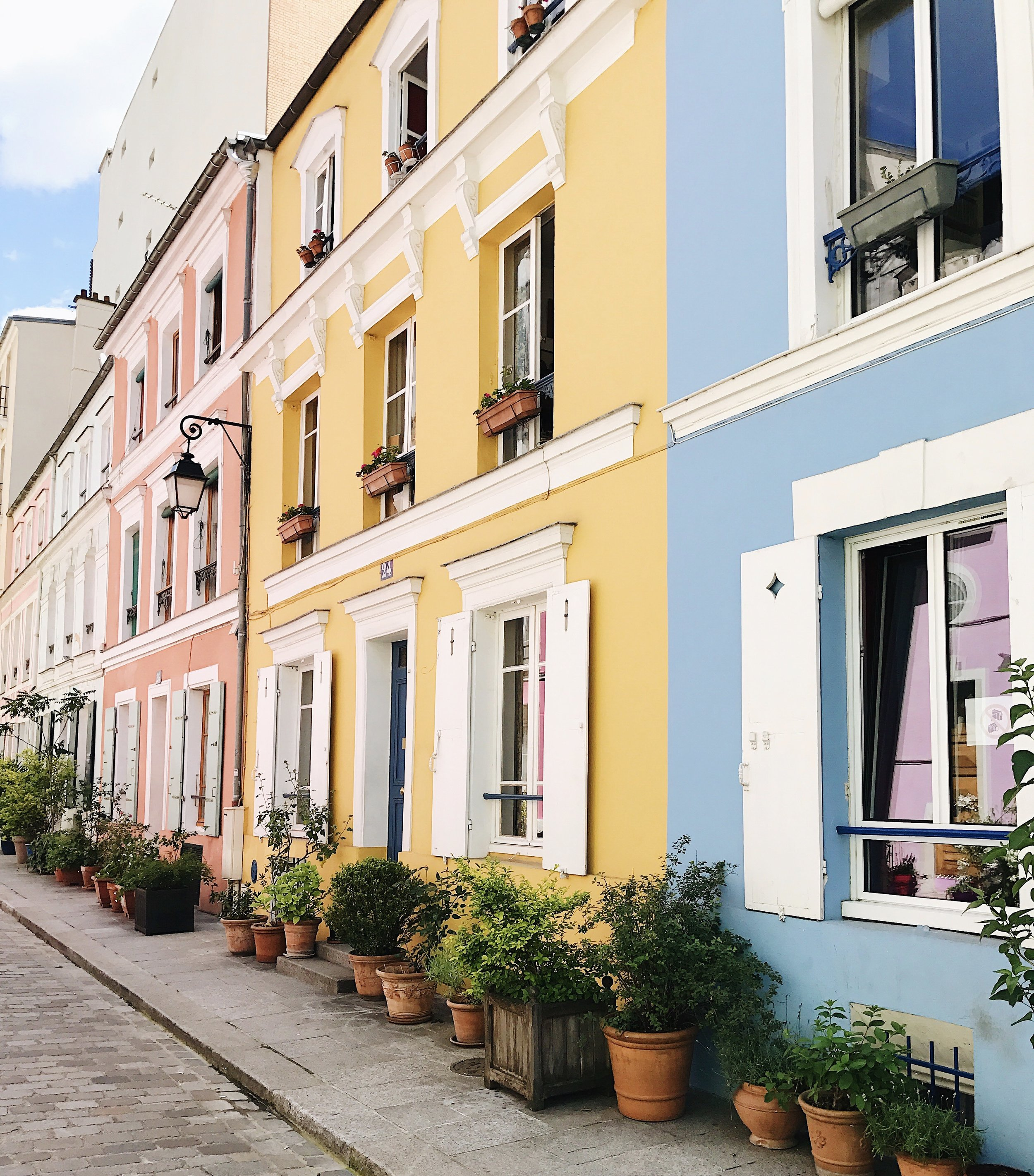 The most colorful street in Paris - Rue Cremieux!