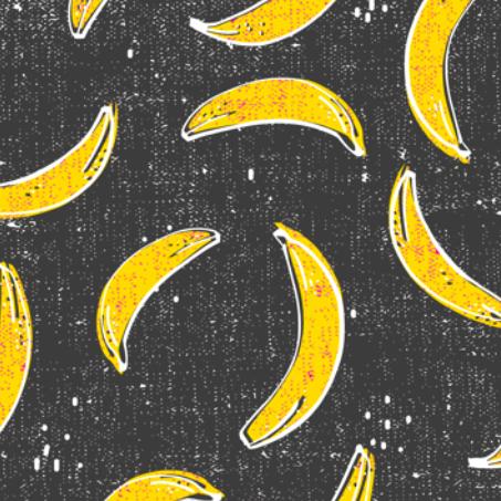 bananarama_grey by holli_zollinger on Spoonflower