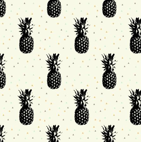 pineapples // golden by littlearrowdesign on spoon flower
