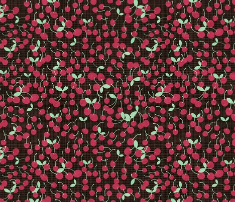 cherries by kociara on spoonflower