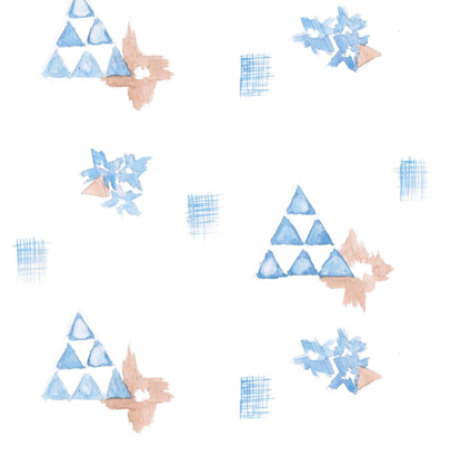 watercolor triangle print by wiksten on spoonflower