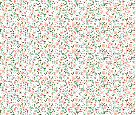 winter floral // pine // extra small  by: ivieclothco on spoonflower