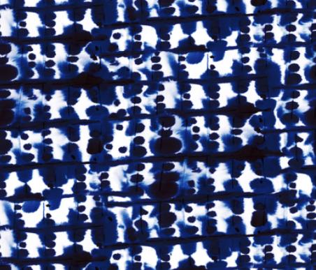 Parallel Blue Indigo  by: mjmstudio on spoonflower