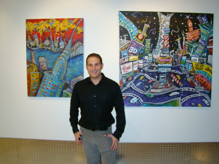 Jason Gluskin at NYC solo show - Jan 2011