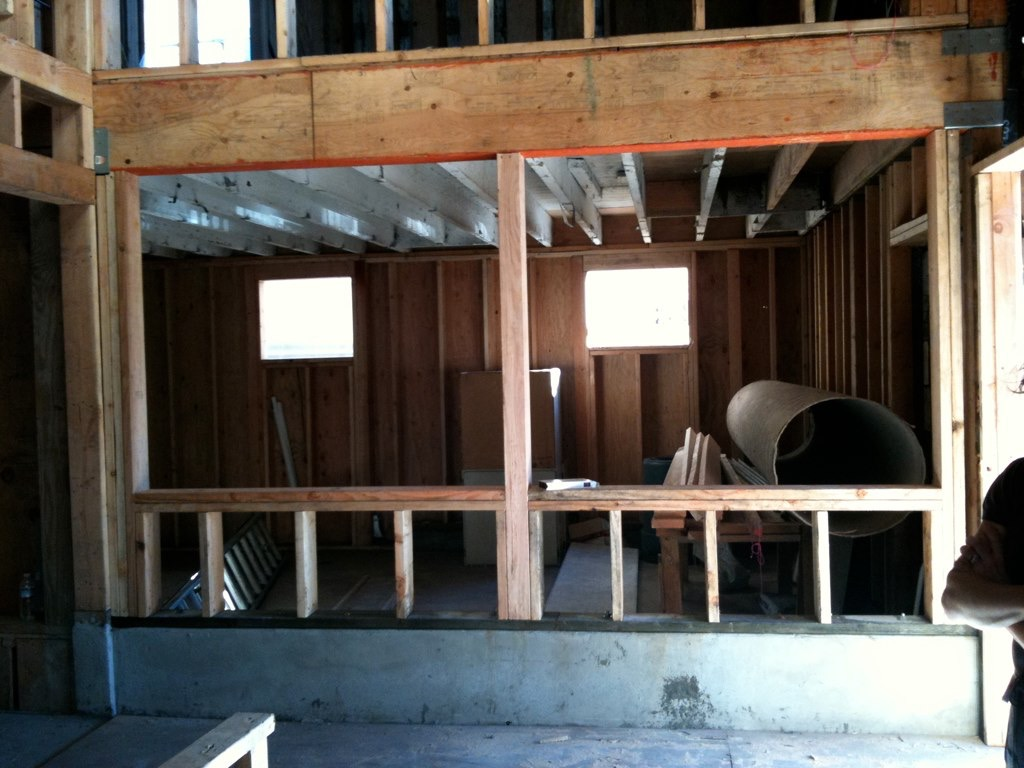 Framing the north-facing windows