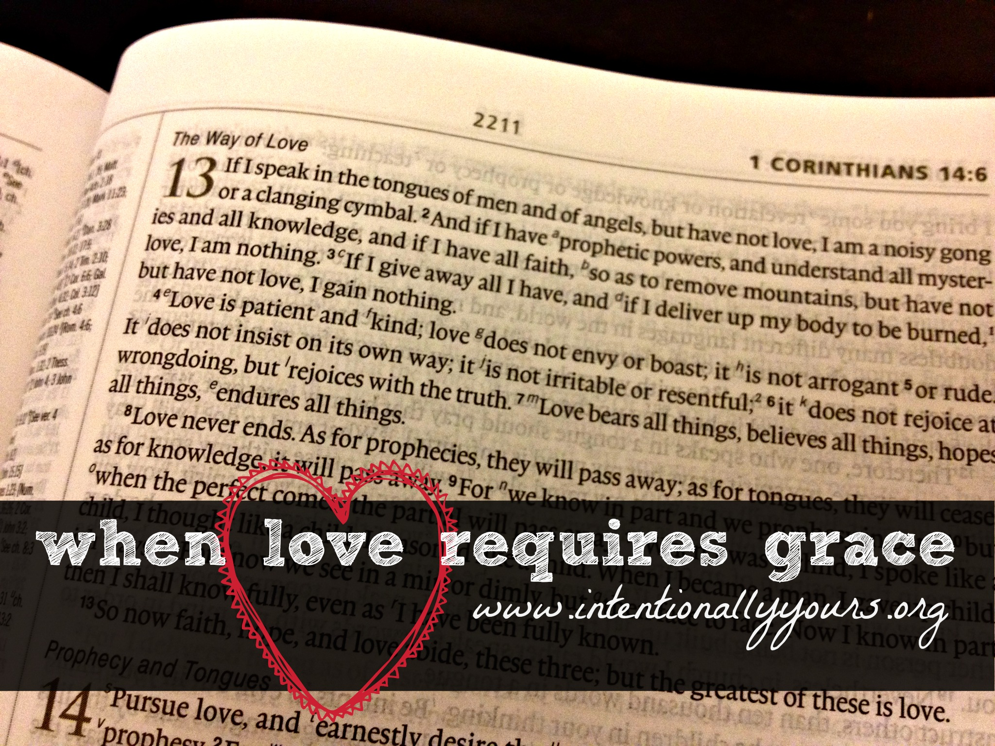 when love requires grace