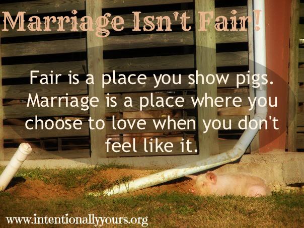 Marriage Isn't Fair
