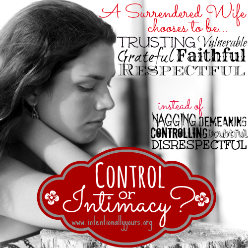 Control or Intimacy