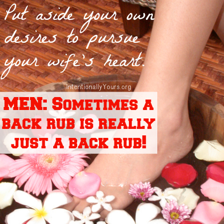 back rub