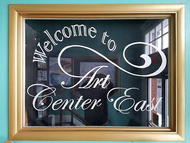 Welcome #windowpainting for #artcentereast entrance 🎨 #art #painting 👍Thanks again guys!