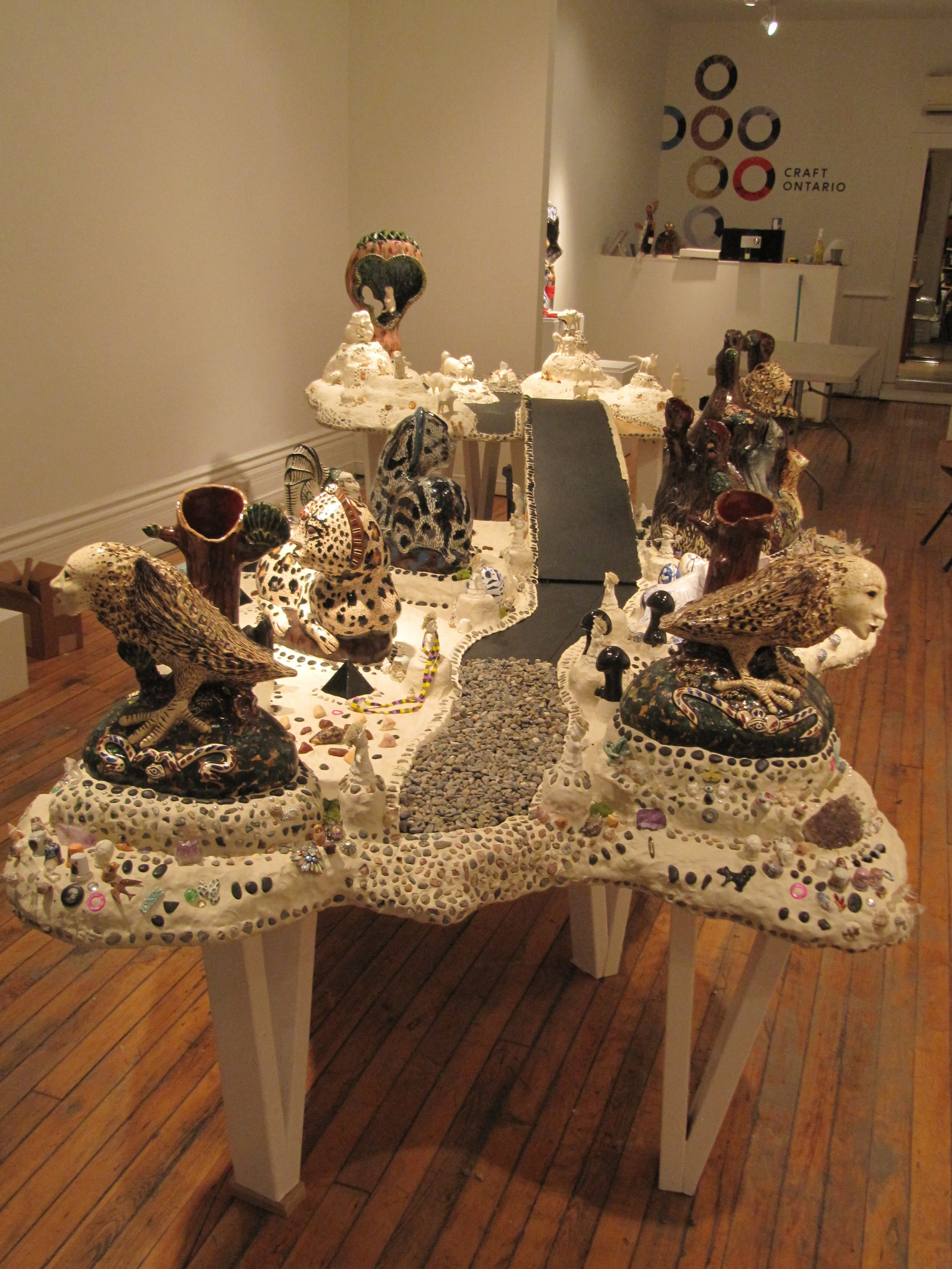 Gather, installation by Janet Macpherson and Lindsay Montgomery, 2014
