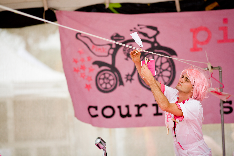 Pink Courier Service - Set Design