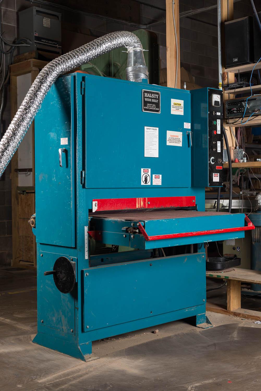 """HALSTY 36"""" X 75"""" WIDE BELT SANDER, 20 hp, 36"""" x 8' sanding capacity"""