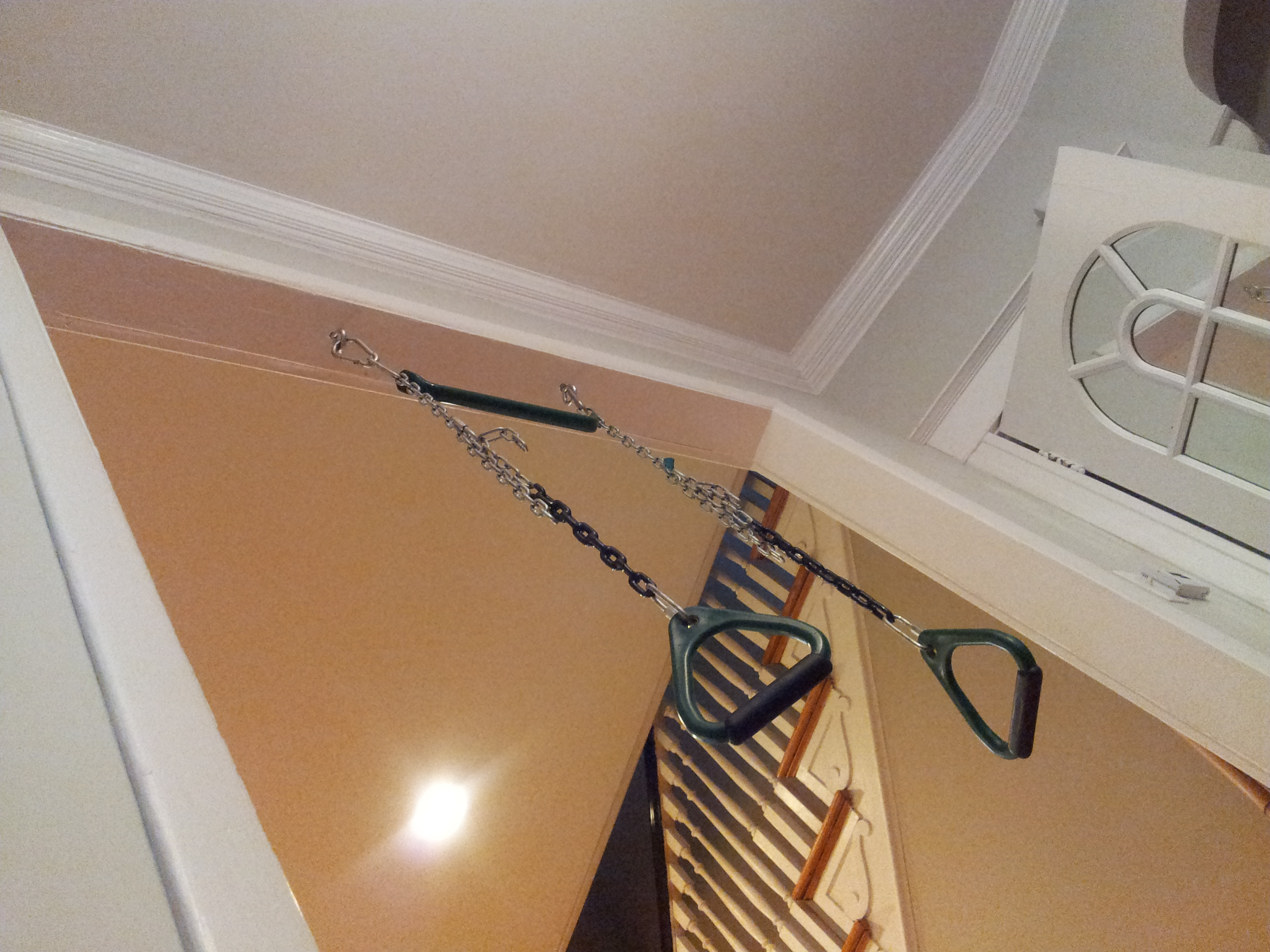 Easy to hang, inexpensive and adjustable.