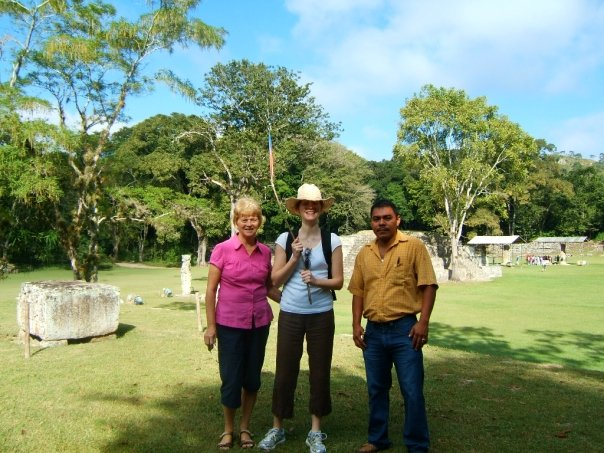 Here I am with my mom (and Nerri, our driver) visiting Mayan ruins in Honduras a few years before she died.