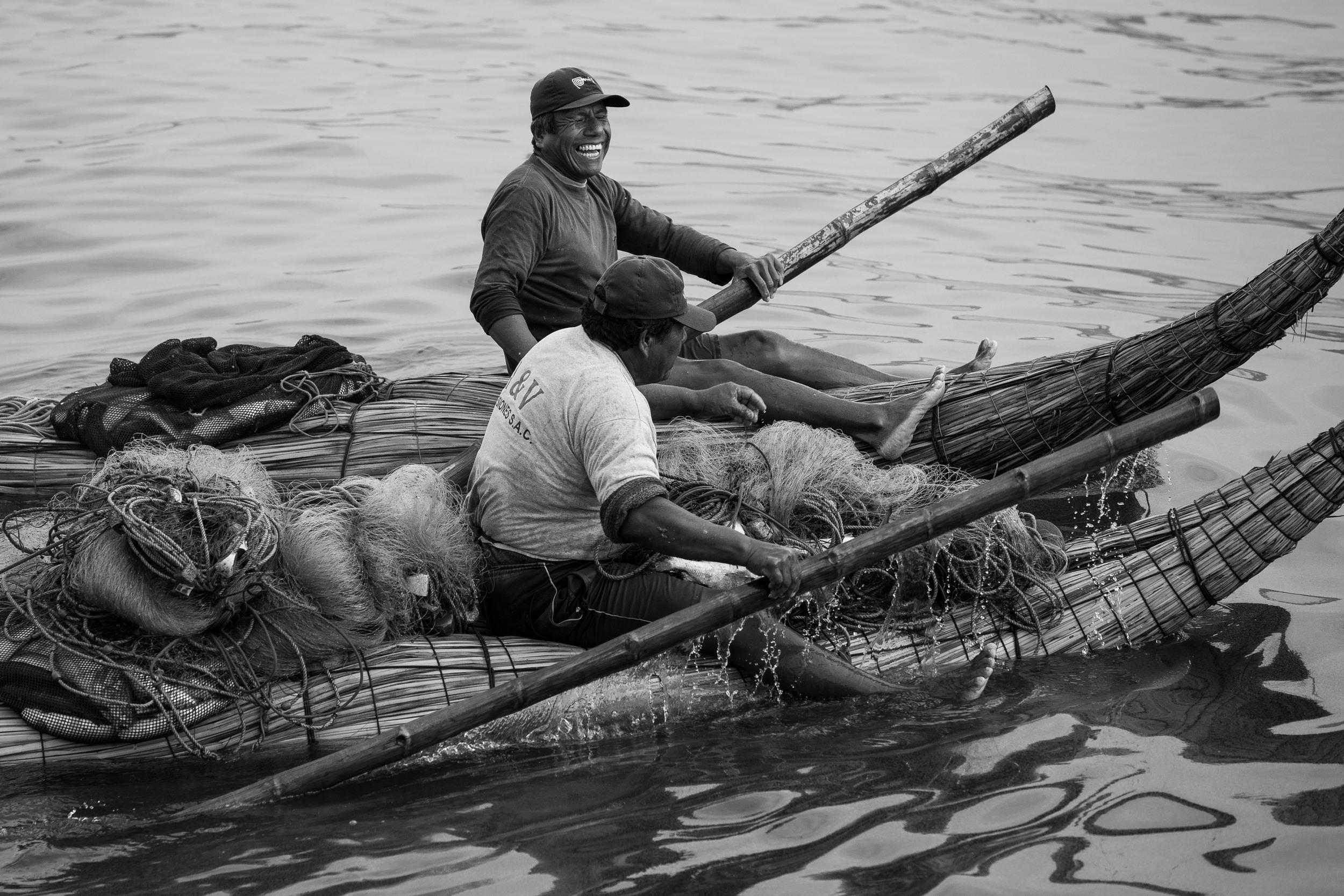 Fishermen, Huanchaco, Peru