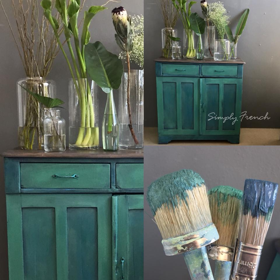 Blues and Greens   This was a very ordinary Office Filing cupboard that got up cycled with Annie Sloan Blues And Greens. Perfect now to use in a bathroom to store towels.  Rxx