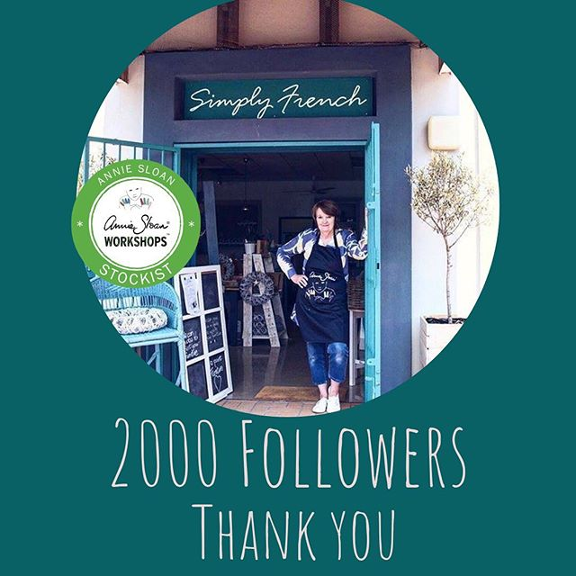 I am humbled and honored to have reached 2000 followers. I would like to thank each and everyone of you for your support on my Instagram journey On the days when running a retail shop was a challenge, you guys made it possible for me to always be positive and carry on doing what I love -Painting with Annie Sloan Chalk Paint. I look forward to sharing my onward journey with you 💙💙💙#anniesloanhome #anniesloansa #simplyfrenchsa