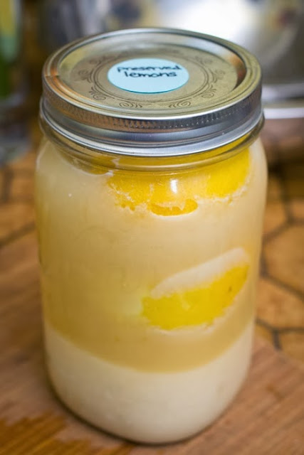 preserved lemons in mason jar