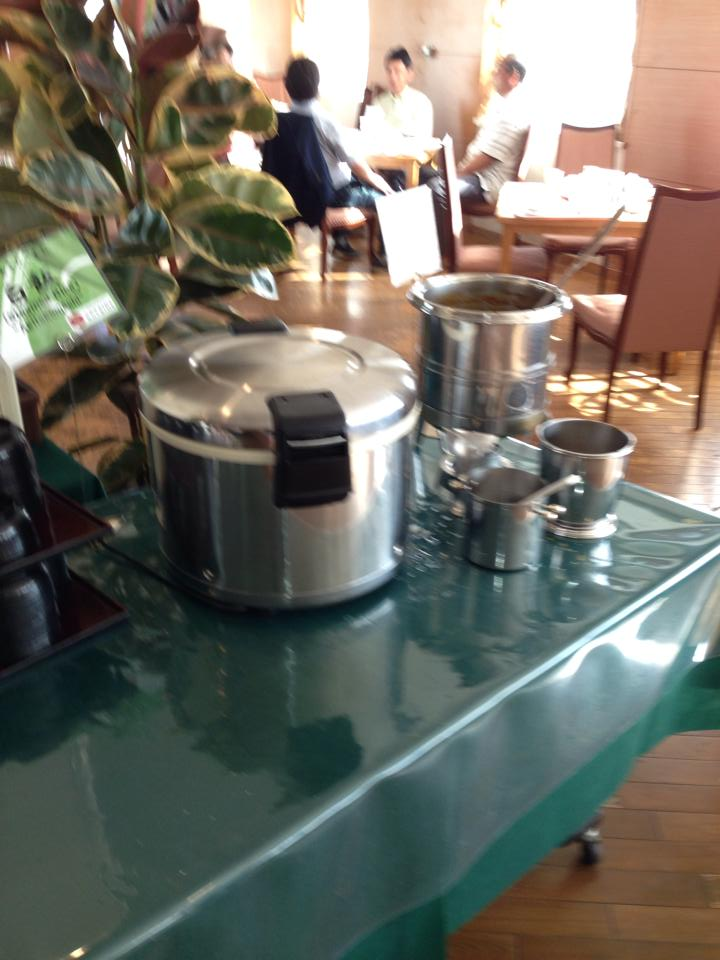 The ginormous rice cooker at breakfast. I literally ate rice for breakfast, lunch, and dinner.