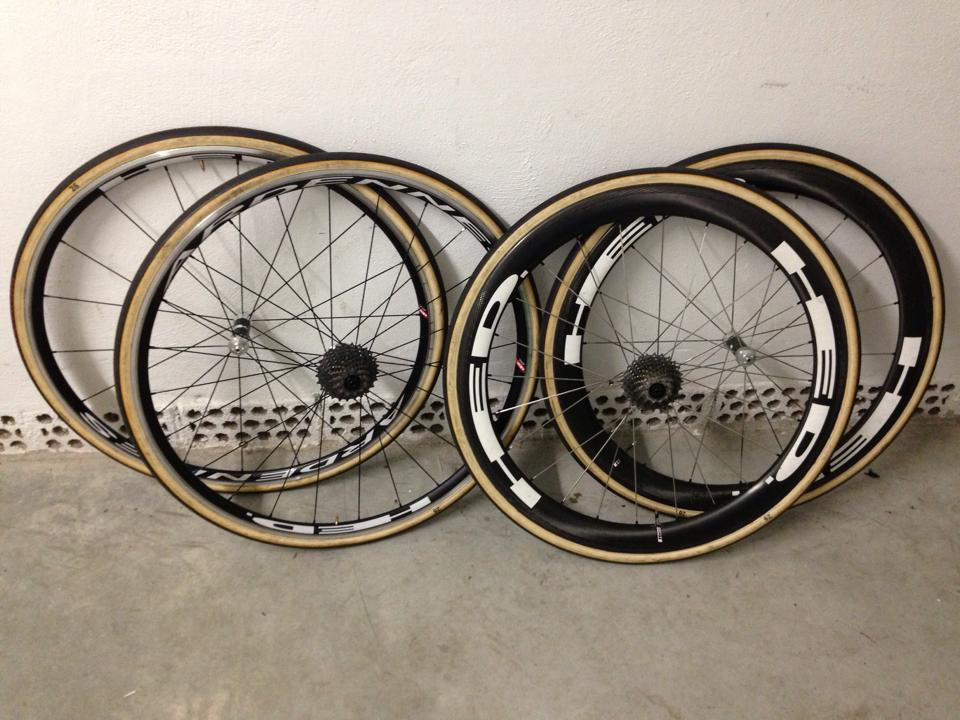 HED Ardennes tubulars are for the rain. HED Stinger 4's are for other conditions.