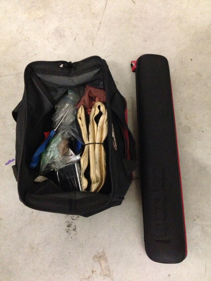 My favorite tool is my Specialized Compak floor pump, which comes with an awesome travel case (pictured above).