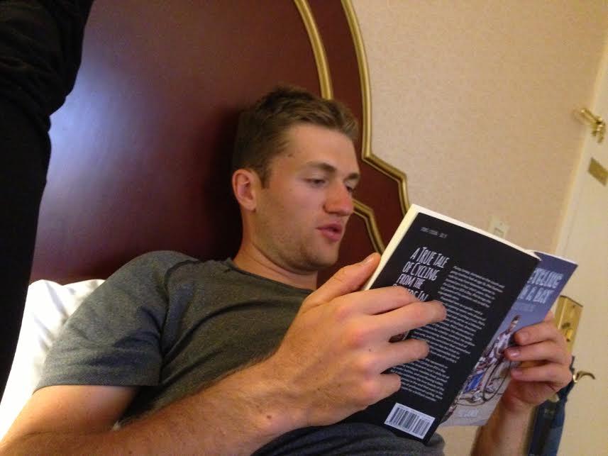 Patrick reading to me aloud
