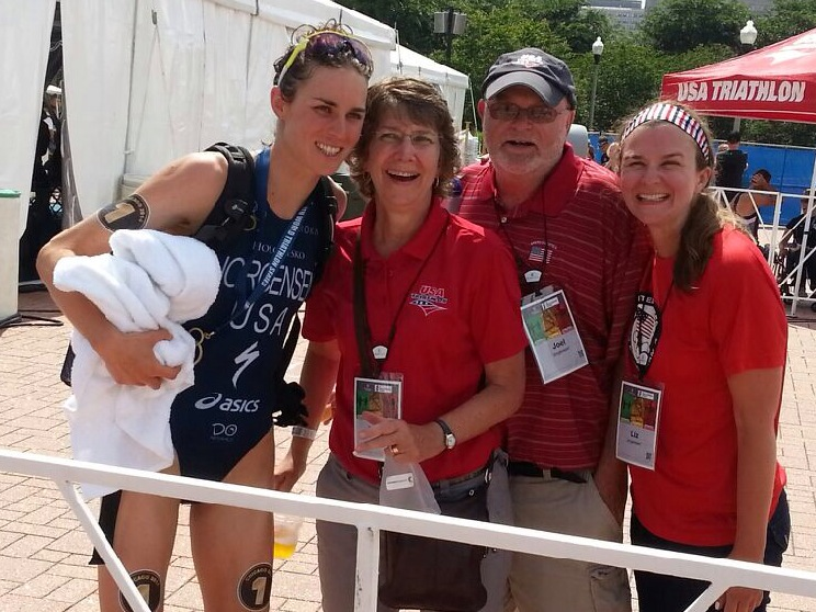 Me with my mom, dad, and sister Elizabeth after the race