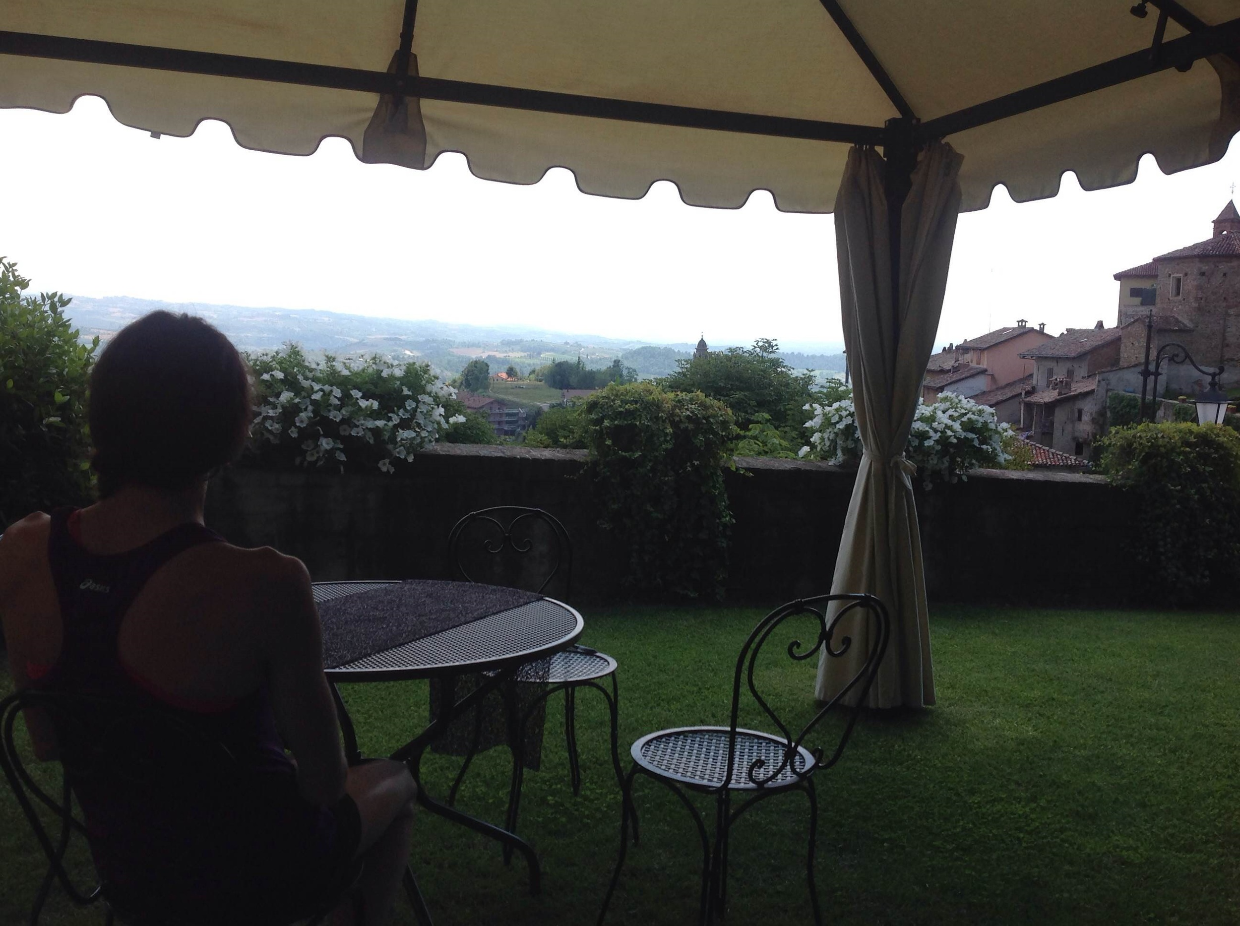Enjoying the view at our Villa in Italy